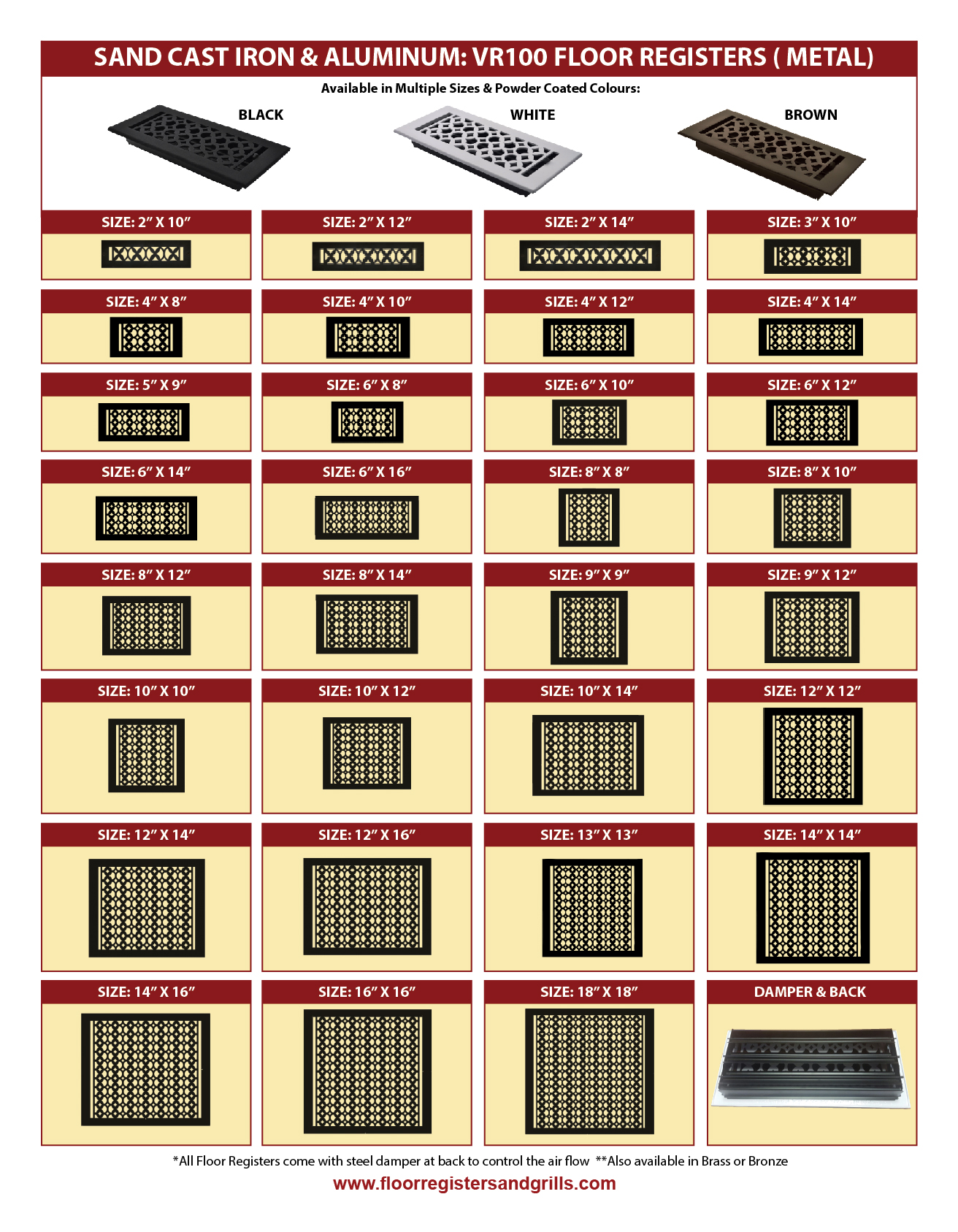 Download Catalogue - Floor Registers and Grills
